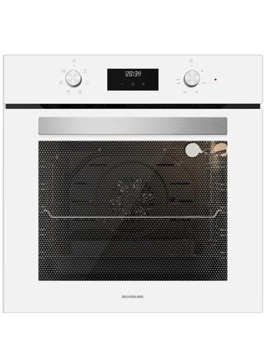 Silverline BO6502W01 6 Fonksiyon Beyaz Cam Ankastre Fırın Renkli